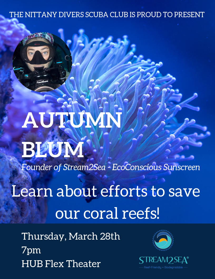Autumn Blum, Cosmetic Chemist and founder of Sea2Stream, presents on saving coral reefs